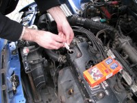 Engine oil additive application